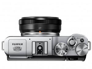 fujifilm X-M1 bovenkant zilver