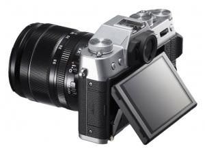 Fujifilm X-T10 zijkant zilver